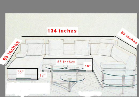 3334 White Ultra Modern Sectional