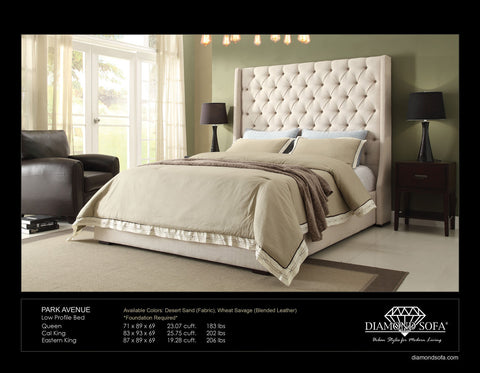 Park Avenue Linen Tufted Bed