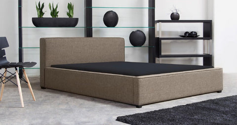 Euro Platform Bed (Toffee or Oatmeal Color)