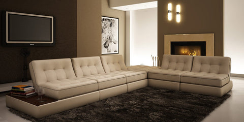 5055 Modern Bonded Leather Sectional Sofa