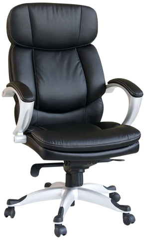Minta Pneumatic Lift Office Chair, Black Bycast Polyurethane Finish