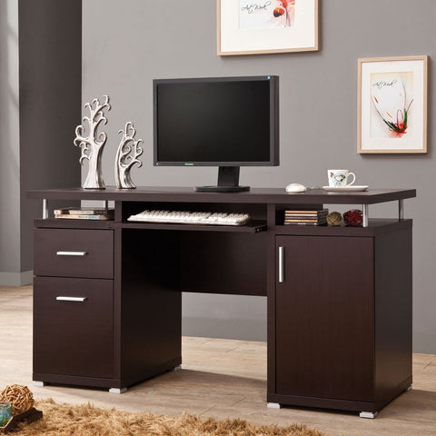 Computer Desk with 2 Drawers & Cabinet