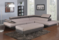 Watson Sectional w/ Two Tone Adjustable Headrest ECO