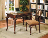 Stylish Home Office Storage Computer Writing Desk w/ Cushioned Seat Chair