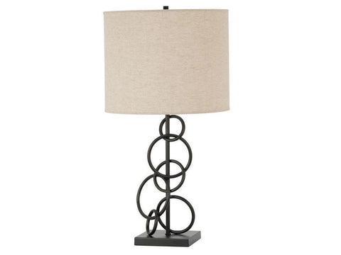 Contemporary Bronze Metal Lightning Table Lamp