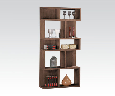 Dark Oak Finish Display Bookcase 92162