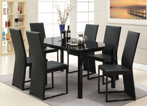 Riggan 7 PC Dining Table Set in Black