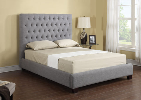 Sophia Fabric Upholstered Bed in Grey