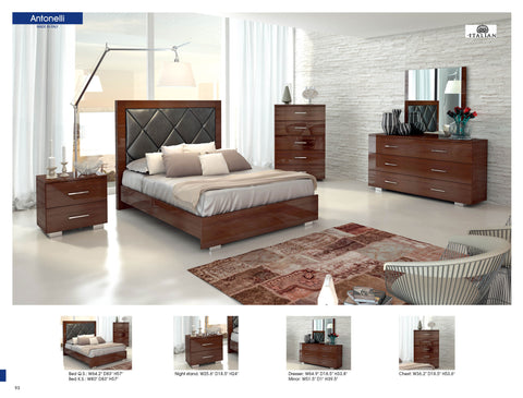 Antonelli Modern Bedroom Set (Made in italy)