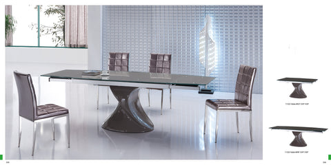 Extendable Modern Glass Dining Table 98""