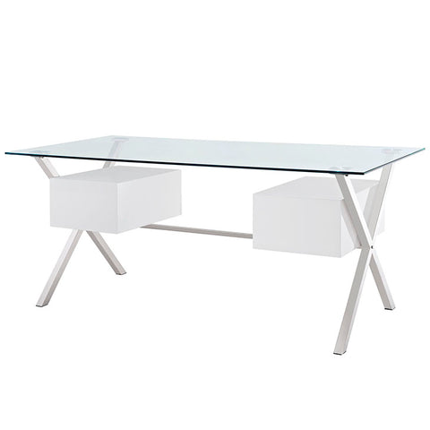 Abeyance Glass Top Office Desk