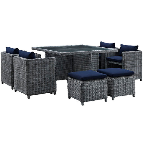 PATIO SUNBRELLA® DINING SET IN CANVAS NAVY