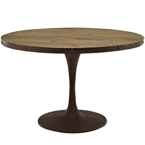 "Drive 48"" Round Wood Top Dining Table - Empire Furniture Home Decor & Gift"