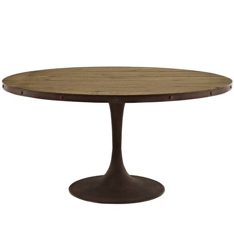 "Drive 60"" Round Wood Top Dining Table - Empire Furniture Home Decor & Gift"