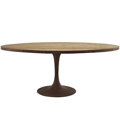 "Drive 78"" Oval Wood Top Dining Table - Empire Furniture Home Decor & Gift"