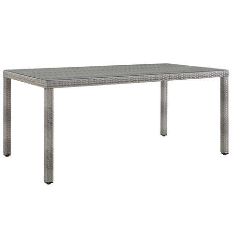 "Aura 68"" Wicker Rattan Dining Table"