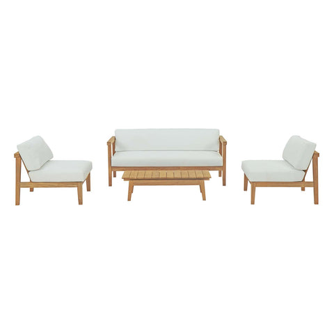 Bayport 4 Piece Outdoor Patio Teak Set