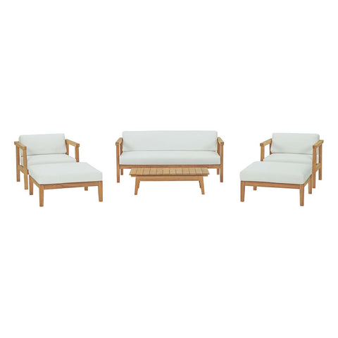 Bayport 6 Piece Outdoor Patio Teak Set - Empire Furniture Home Decor & Gift