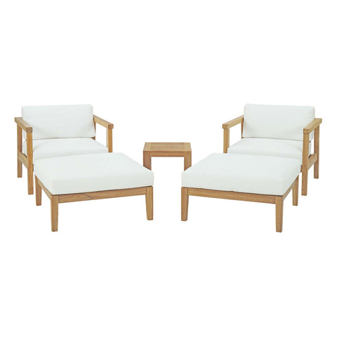 Bayport 5 Piece Outdoor Patio Teak Set