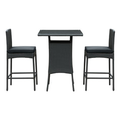 Cerveza 3 Piece Outdoor Patio Pub Set