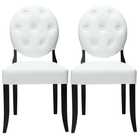Button Dining Chairs Set of 2 - Empire Furniture Home Decor & Gift