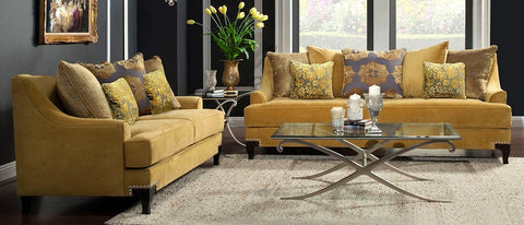 Viscontti Gold Sofa Set - Empire Furniture Home Decor & Gift
