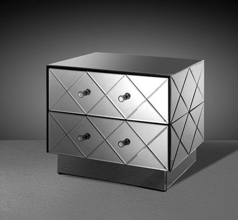 Segovia - Modern Mirrored Bedroom Furniture Nightstand