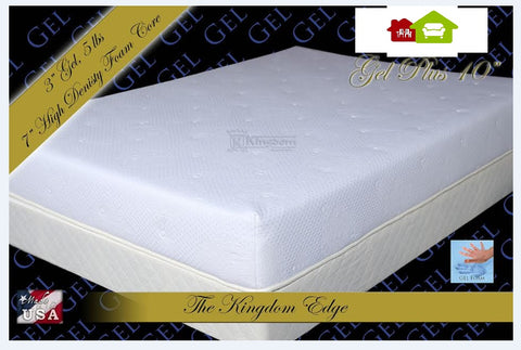 "10"" Gel Plus Memory Foam Mattress Made in USA"