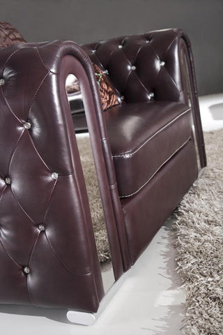 2762 Sofa Set | Tufted Leather & Rhinestones