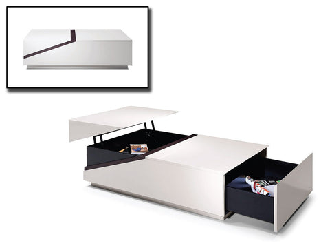 Modrest SE152A - Modern Coffee Table w/ Storage Compartments