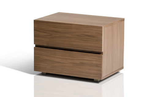 Logan Modern Walnut Nightstand