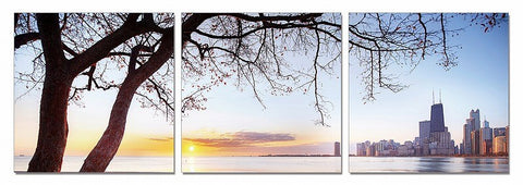 Evening View 3-Panel Photo On Canvas
