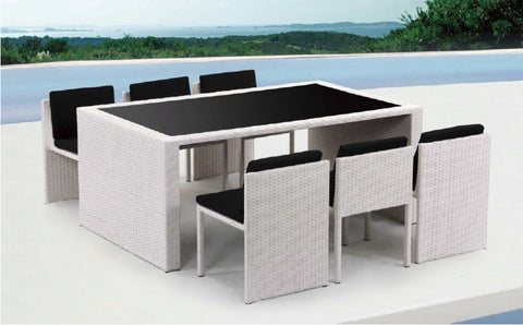 Renava Taurus - Table and 6 Chair Patio Dining Set