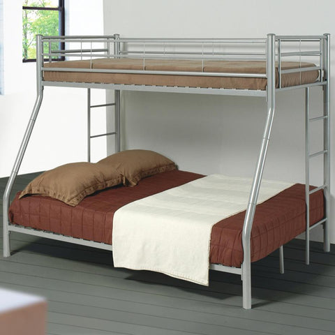 Denley Metal Twin over Full Bunk Bed w/ Built-IN Ladder