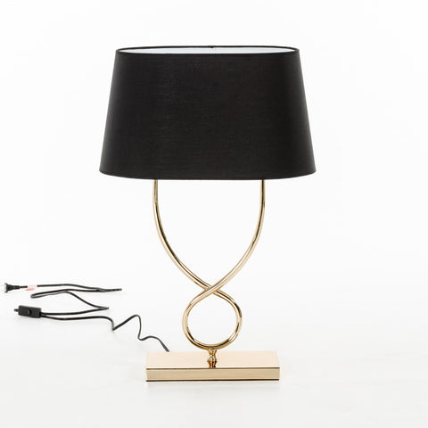 Modrest Abbott Gold & Black Table Lamp