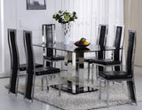 Jercy 7 PC Dining Table Set in Black
