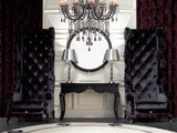 Baron Transitional High Lobby Chair with Crystals