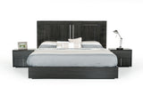 Modrest Ari Italian Modern Grey Bedroom Set Queen