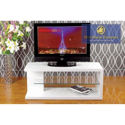 42 Inch Tv Stand/ Media Console (White - High Gloss)