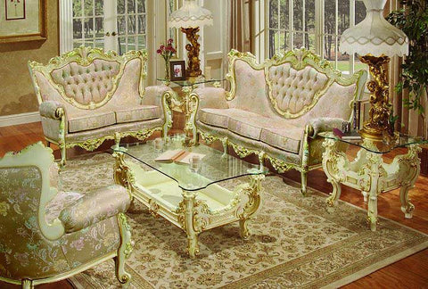 8 PC French Provincial Sofa Set Pol Rey | Empire Furniture Home ...