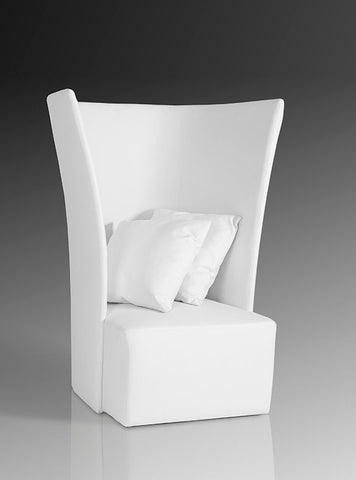 Bastia Modern White Leather Leisure Chair