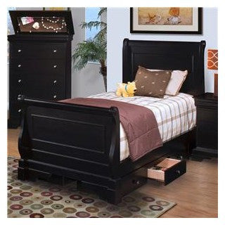 ... New Classic Belle Rose Youth Sleigh Bedroom Set In Bordeaux Finish