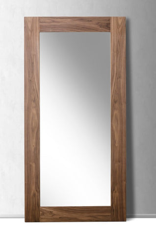 Beth Modern Walnut Floor Mirror