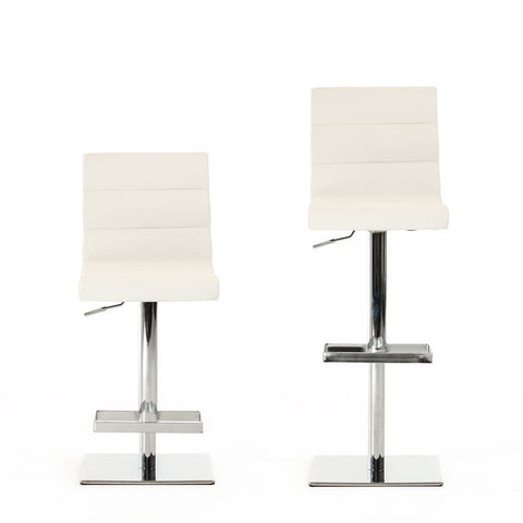 Kasey Modern White/Black Bar Stool