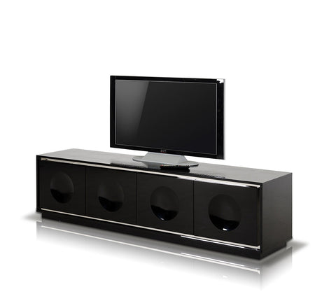 A&X Grand - Modern Black Crocodile Lacquer TV Stand