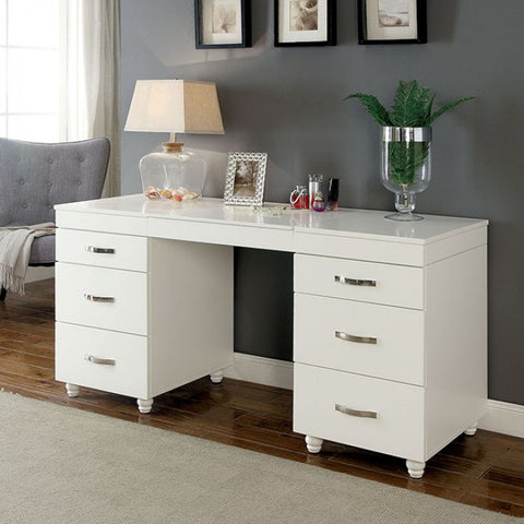 LED Vanity Desk White Contemporary