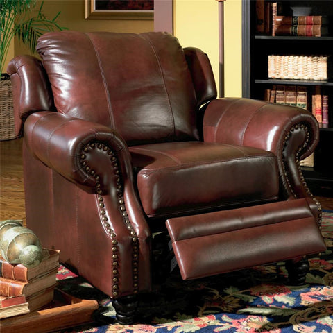 Princeton Burgundy Push-Back Recliner
