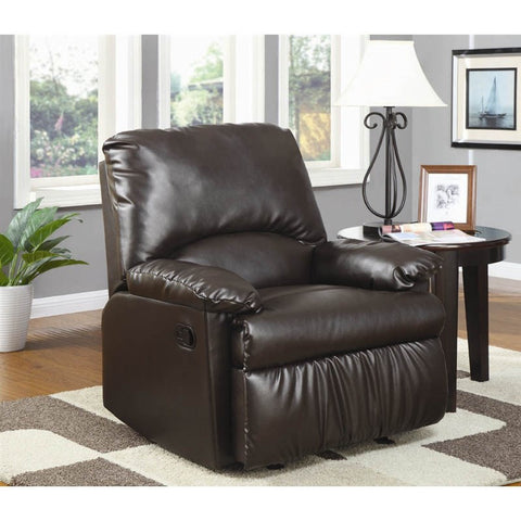 Glider Recliner in Brown by Coaster