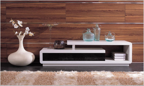 D3033 Modern White Lacquer TV Stand