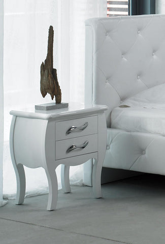 Monte Carlo White Bedroom Nightstand